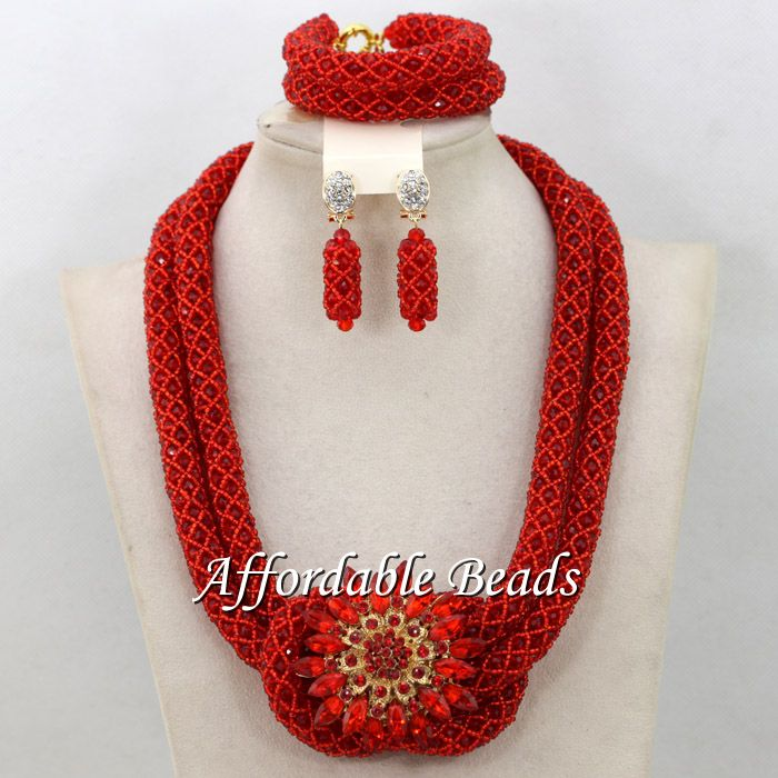 Exclusive African Beads Hot Sale Nigerian Bridal Jewelry Set ...