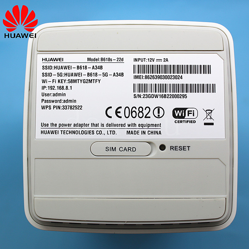 BIG SALE] Unlocked New Huawei B618 B618S 22d with Antenna