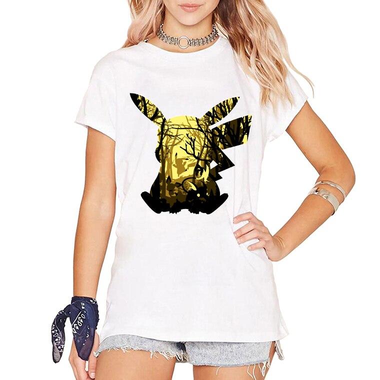 bbccccad8dc4b2 Fashion Lovely Pokemon T Shirt Anime Pika Women/Men T-Shirts Pikachu  Eletric Forest T Shirt Casual Short Sleeve Cute Tees Tops