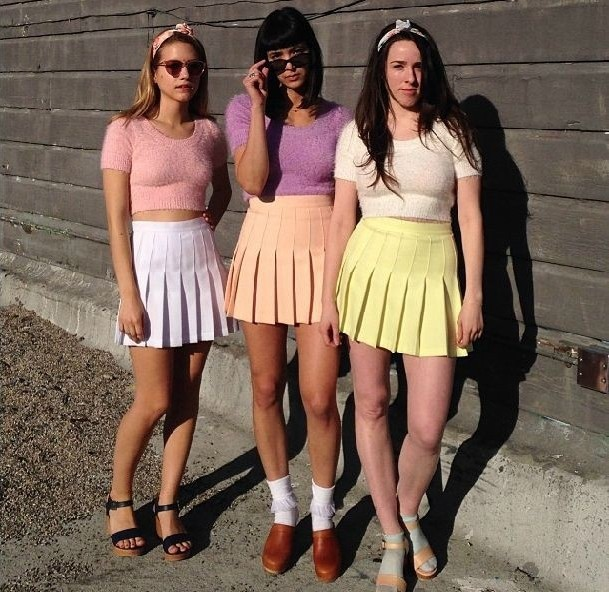 6b18629fa1a7c 2014 American Apparel Street Fashion Lady High Waist Ball Tennis Pleated  Skirt XS L White Black Red Pink Yellow-in Skirts from Women s Clothing on  ...