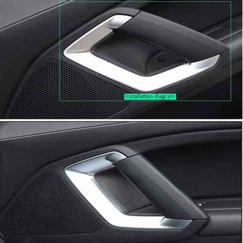 DNHFC high quality Matte ABS Interior door hand Cover For <font><b>Peugeot</b></font> <font><b>308</b></font> T9 <font><b>SW</b></font> Rear View 5-door <font><b>2015</b></font> 2016 image
