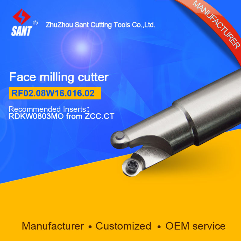 Suggested ZCCCT FMR03-016-XP16-RD08-02  Indexable Milling cutter SANT RF02.08W16.016.02 with RDKW0803MO carbide insert for ZCC  цены