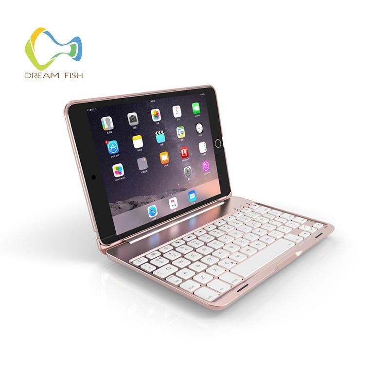 Ultra Thin Folio Case for iPad Pro 10.5 inch PU+ Aluminum Clamshell Bluetooth keyboard Smart Auto Sleep Wake Tablet Case Coque ultra thin folio cover with removable aluminum bluetooth keyboard for 10 5 ipad pro