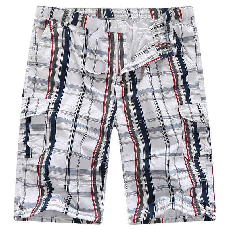 men cargo men tactical track sweat pants 46 48 50 cotton Calf-Length Pants baggy plaid hip hop Military large