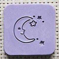 2016 Free Shipping Natural Handmade Acrylic Soap Seal Stamp Mold Chapter Mini Diy Moon Patterns Organic