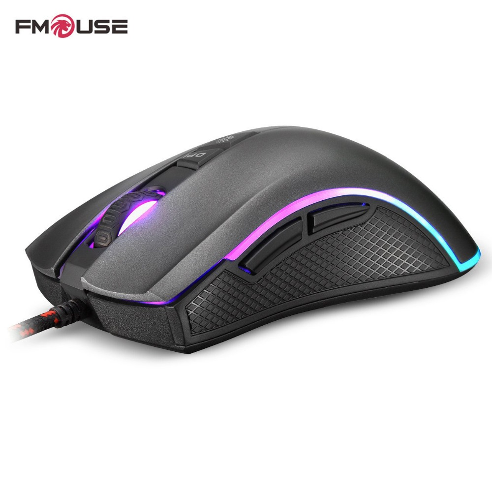 Original FMOUSE F300 E-Sports Programmable Gaming Mouse 4000 DPI Wired Optical Mouse Gamer For Pro Gamer Mouse rapoo 16000 dpi e sports gaming mouse cf lol dota 2 professional grade pc gamer mouse 10 programmable keys ir optical game mouse
