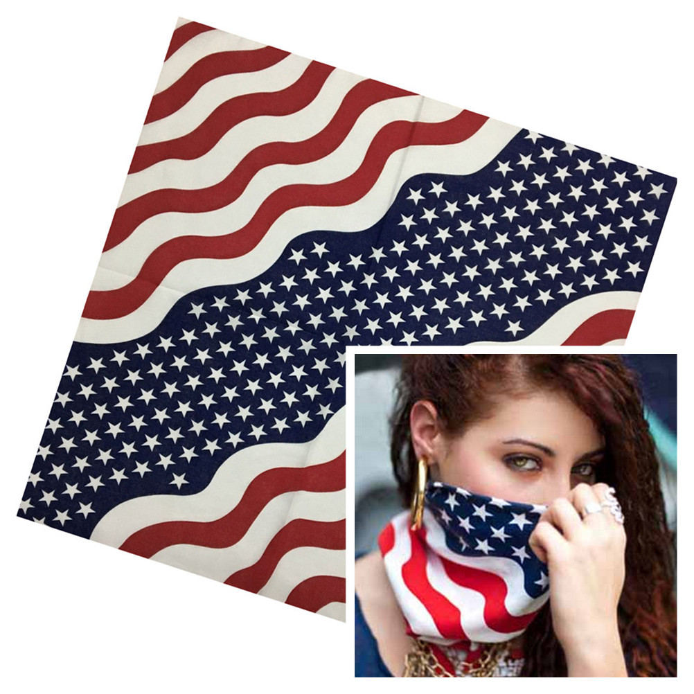 36pcsYKS Cheap National Flag Bandana Men Hip Pop USA Cotton Head Bands Kerchief Women Non Fading UK Bandanas Wholesale