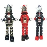 Retro Robot Tinplate Clockwork Toy Vintage Tin Wind Up Toys For Children Vintage Handmade Crafts