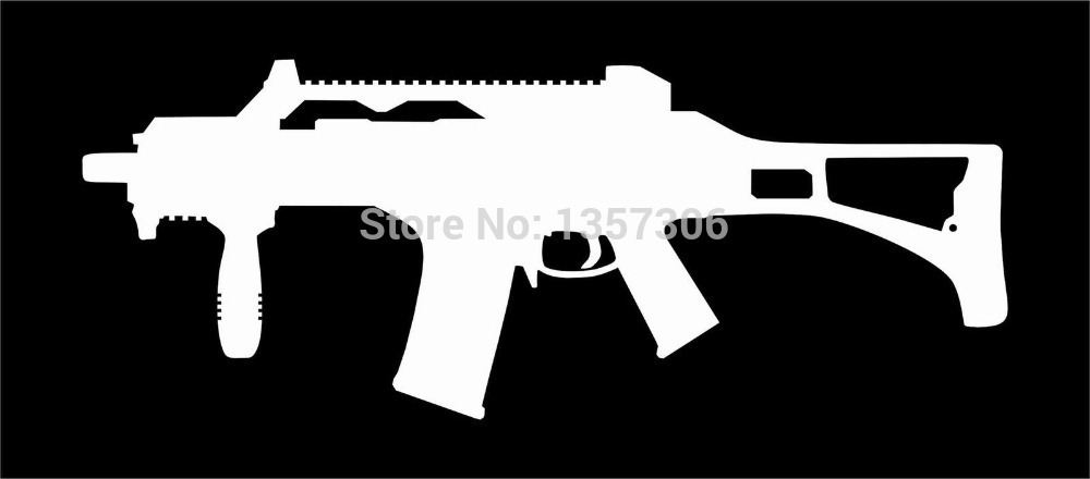hot sale g36 military gun vinyl decal car window truck