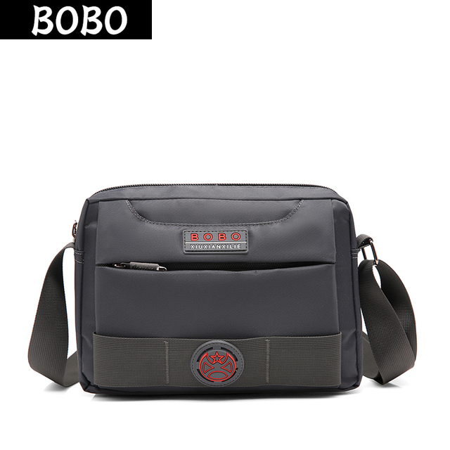 BOBO Brand Fashion Nylon Men Bags Waterproof Oxford Messenger Bags Women  Shoulder Crossbody bags Solid Men s d7a1b0d22e1a8