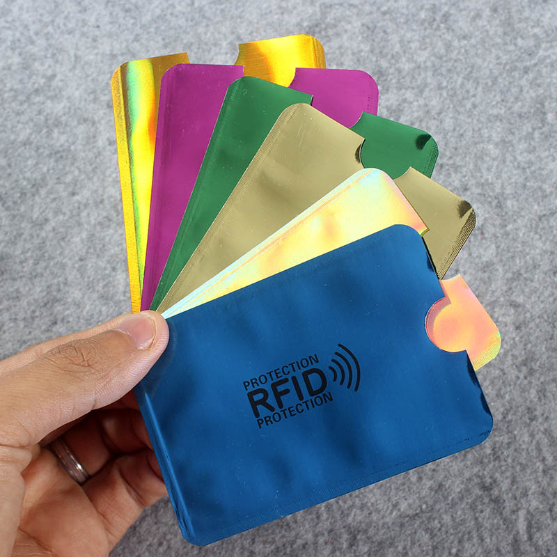 6Pcs Color/Bag Anti Rfid Wallet Blocking Reader Lock Bank Card Holder Bank Card Protection Metal Credit Card Holder Aluminium 6Pcs Color/Bag Anti Rfid Wallet Blocking Reader Lock Bank Card Holder Bank Card Protection Metal Credit Card Holder Aluminium