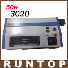 50W  200*300mm Mini CO2 Laser Engraver Engraving Cutting Machine 3020 Laser with USB Sport Support