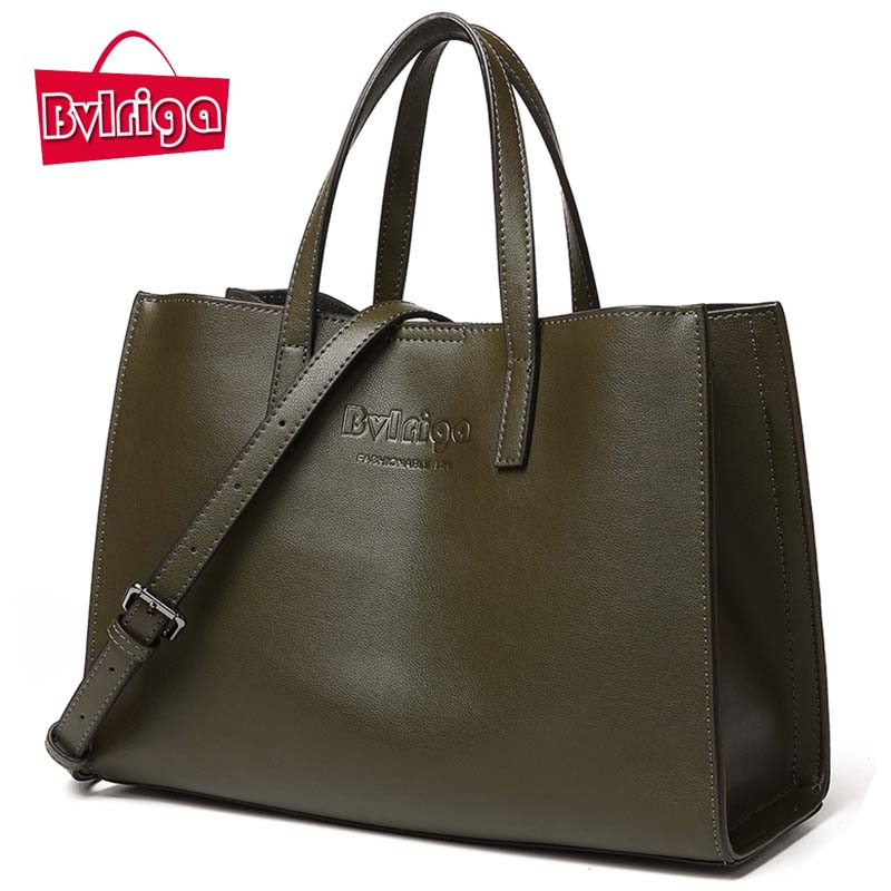 BVLRIGA Ladies' Genuine Leather Handbag Women Bag Luxury Handbags Women Bags Designer Shoulder Bag Women Tote Bags For Women