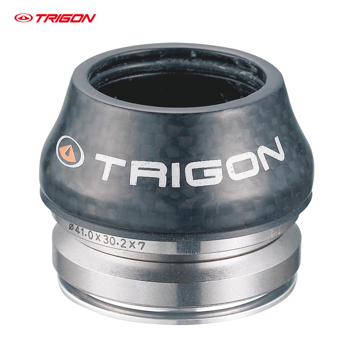 "Фотография TRIGON R1C bike bicycle headset 1-1/8"" internal threadless integrated headset carbon top cover 41mm bearings 28.6mm steerer"