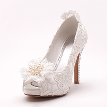New Style Women White Peep Toe Casual  Sandals Fashional Platform Shoes Thin High Heels Pumps Free Shipping