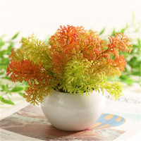 Ceramic Pot Artificial Flower European And American Artificial Plant seaweed green plant Home Decoration wedding fake flower