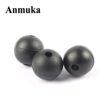 Anmuka 50PCS/Lot 8mm 2mm Round Soft Rubber Beads Carp Fishing Beans Rig Accessory Tackle Carp Rigs