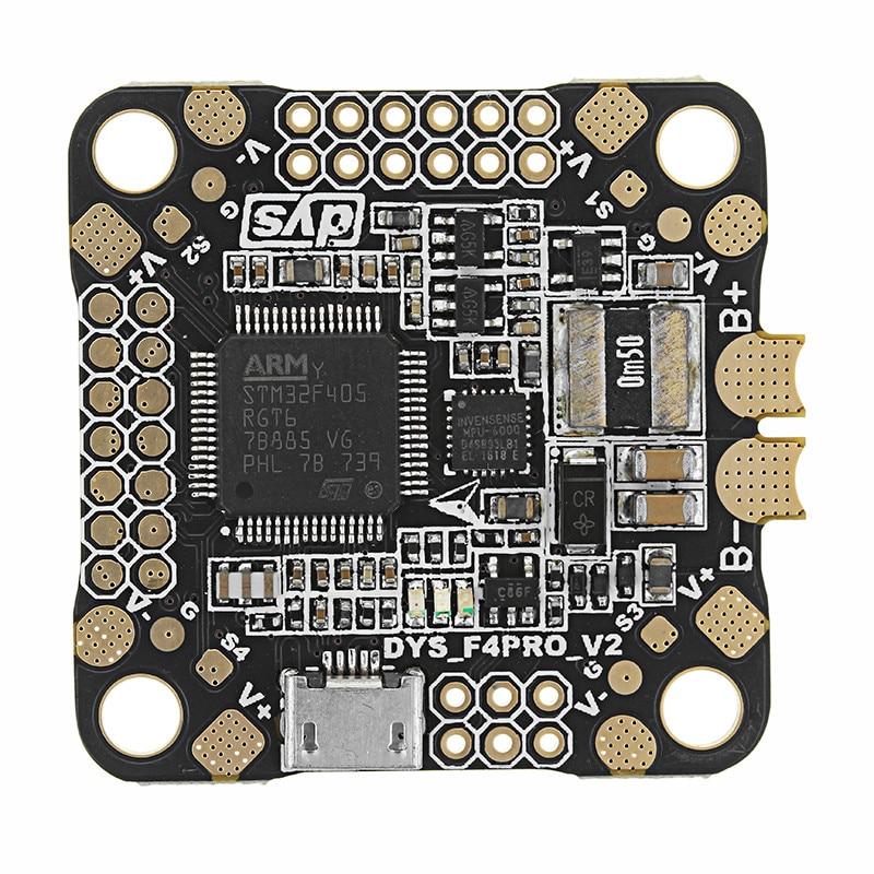 Upgrade DYS 30.5x30.5mm F4 Pro V2 Flight Controller AIO OSD & 5V 9V 3.3V BEC & Current Sensor For RC Drones FPV Quadcopter DIY все цены