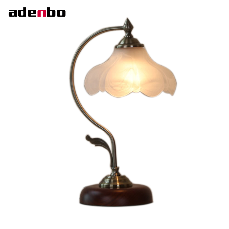 Vintage Desk Lamps Bedroom Lights Metal And Glass Antique Table Lamps For Living Room Bedroom Home Decoration Lighting new 2017 modern table lamps metal personalized desk lamp with glass shade for beside home decor for bedroom living room