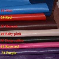 7 colors Genuine sheep skin leather for handbag material