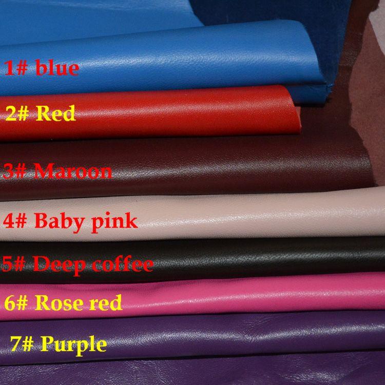 7 couleurs Véritable peau de mouton en cuir pour sac à main matériel