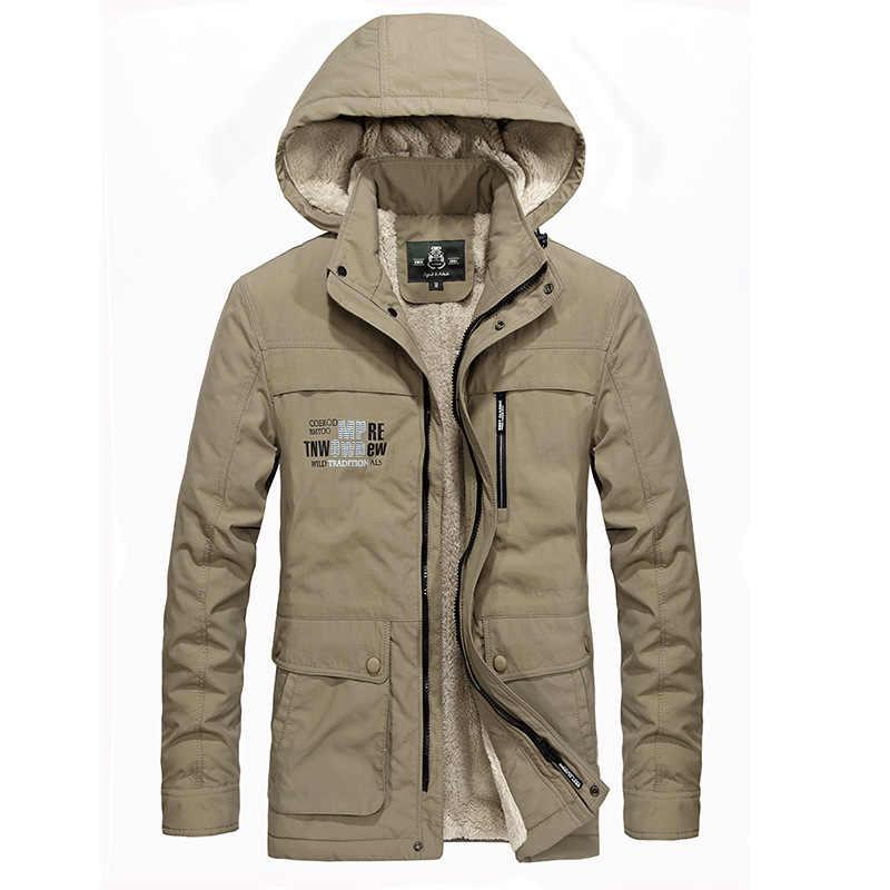 العلامة التجارية الشتاء سترة الرجال معطف العسكرية جاكيتات الصوف معطف سميكة الدافئة الصوف بطانة معطف الذكور أبلى Chaqueta هومبر الكبير حجم 4XL