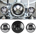 "7 Inch Black Motorcycle Daymaker LED Headlight + 2pcs 4-1/2"" Fog Lights for Harley Davidson LED Passing Lights Front Lights"