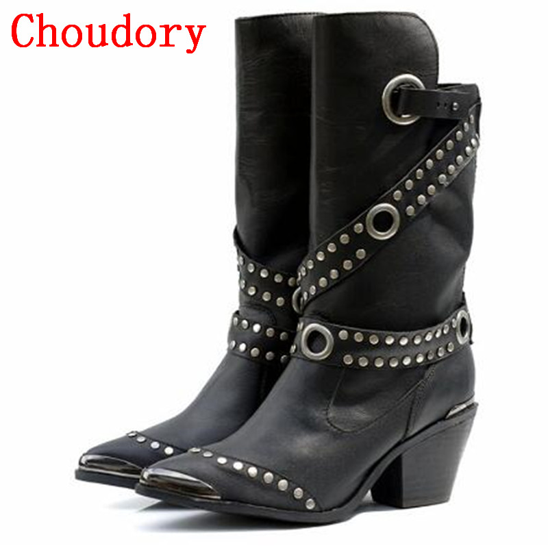 Popular Biker Cowboy Boots-Buy Cheap Biker Cowboy Boots lots from ...