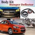 Bumper Lip Lábios Para Chevrolet do Sonic 2011 ~ 2015 Car Lip Loja Body Kit Spoiler Para Carro Tuning TOPGEAR + tira