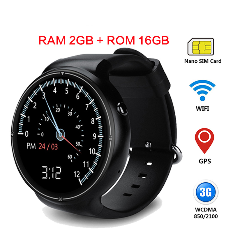 2017 New I4 pro Smart Watch 2GB 16GB RAM/ROM Wristwatch Support WIFI 3G GPS Heart Rate Monitor Google Play Wrist Smartwatch