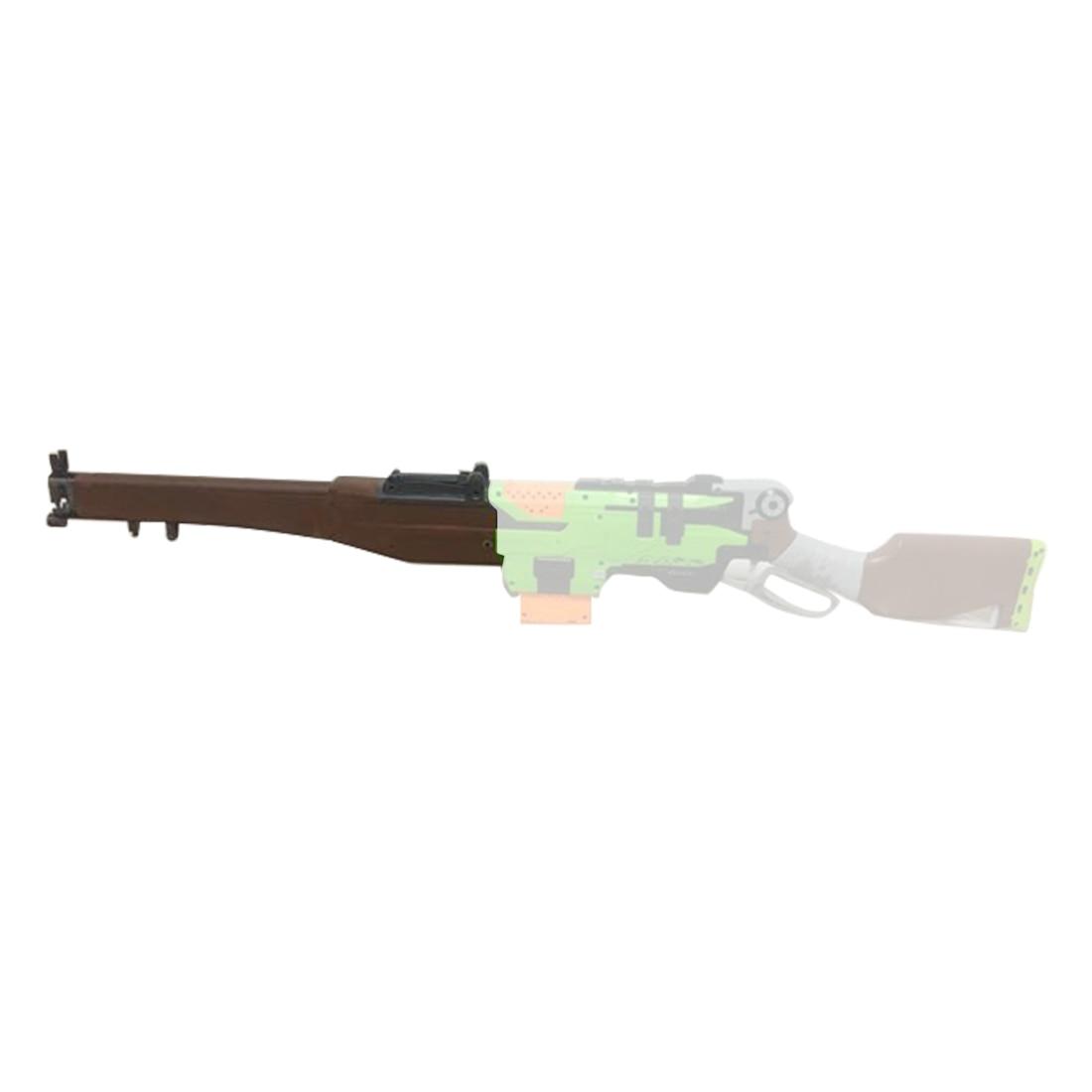 Surwish militaire tactique impression 3D longs barils pour Nerf Zombie grève SlingFire Blaster-brun