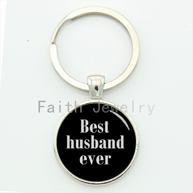Novelty Romantic Lovers Jewelry Best Husband Ever Keychain Freshman Key Chain Interesting Wedding Anniversary Gifts Kc531