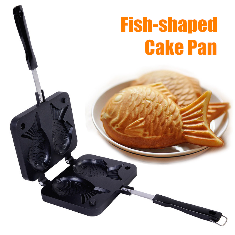 Fish Shaped Cake Maker Pan Iron Mold Cookie Cake Mold Home Kitchen Baking Pastry Tools Waffle iron Cast Pan