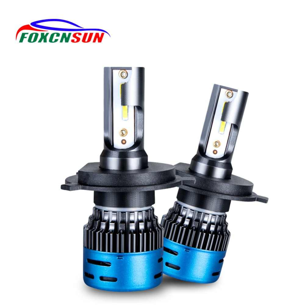 FOXCNSUN LED Ampoule faro moto H7 LED H4 CAR HEADLIGHT BULB 12V 24V H11 HB3 HB4 9005 9006 40W 9600LM Hi Lo beam 1 year warranty