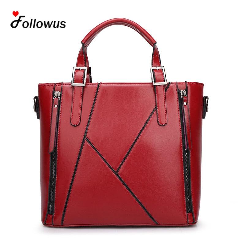 ФОТО  Ladies New High Capacity Tote Bags 2016 Women PU Leather Fashion 5 Colors OL Business Messenger Shoulder Bag Bolsas