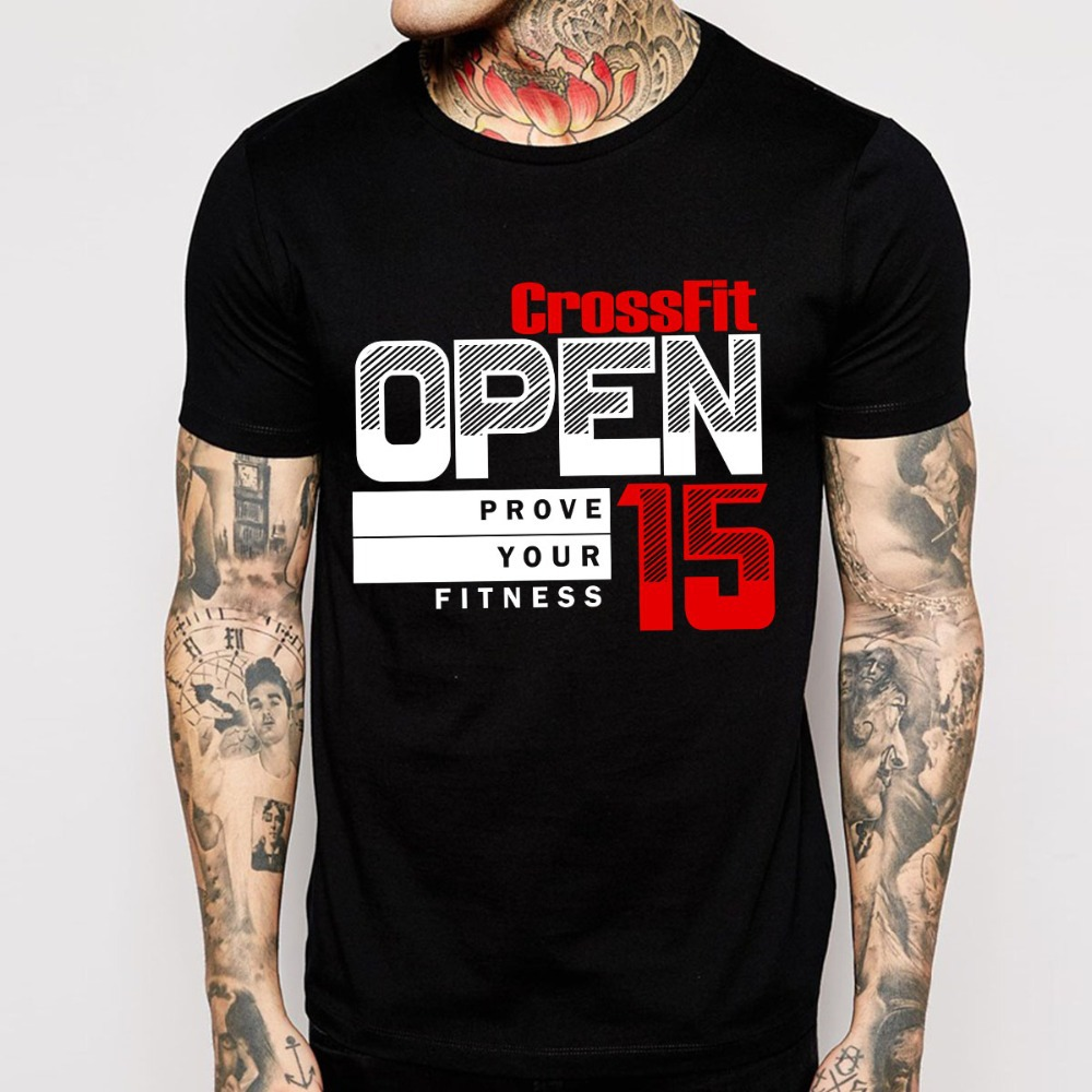 free shipping open crossfit t shirts men o neck man tees short sleeve mens tops in t shirts from. Black Bedroom Furniture Sets. Home Design Ideas