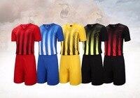 Men S Training Short Sleeve Jersey Breathable Running Sets Sportswear Soccer Team Football Kits Adult DIY