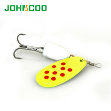 JOHNCOO 4pcs Spinner Bait Metal Lure Spoon NO2-NO5 Artificial Fishing Lures Multi Sizes Bass Bait Pike Lure