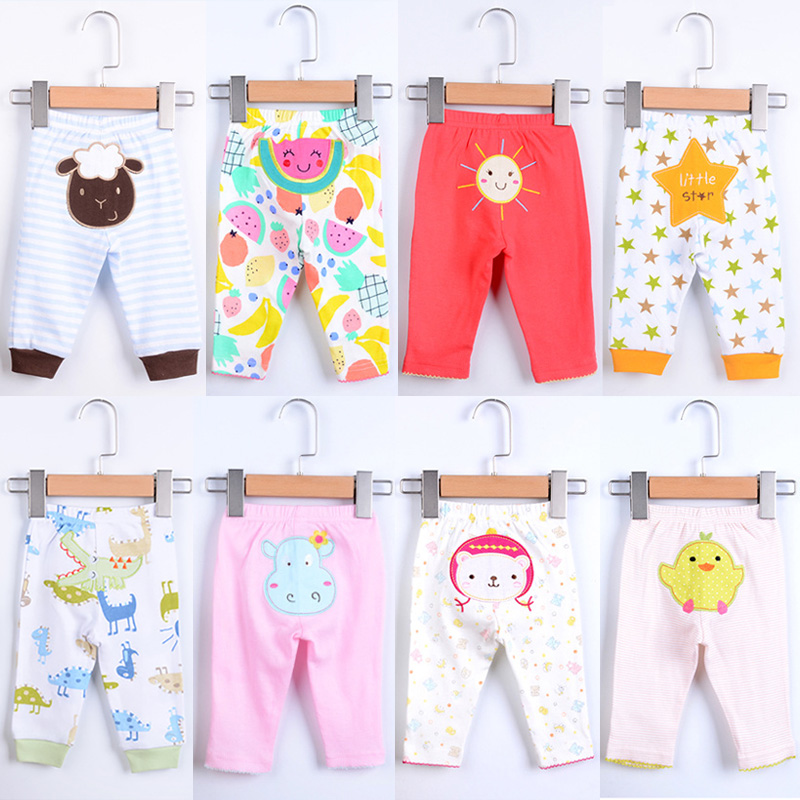Newborn Baby Pants 5pcs/lot Children Legging Clothing Babe Dinosaur Star Sheep Cartoon Animal Cute Boy Girl Cotton Trousers Kids emmababy toddler infant baby girl boy pants wrinkled cotton vintage bloomers trousers legging pants boby clothing