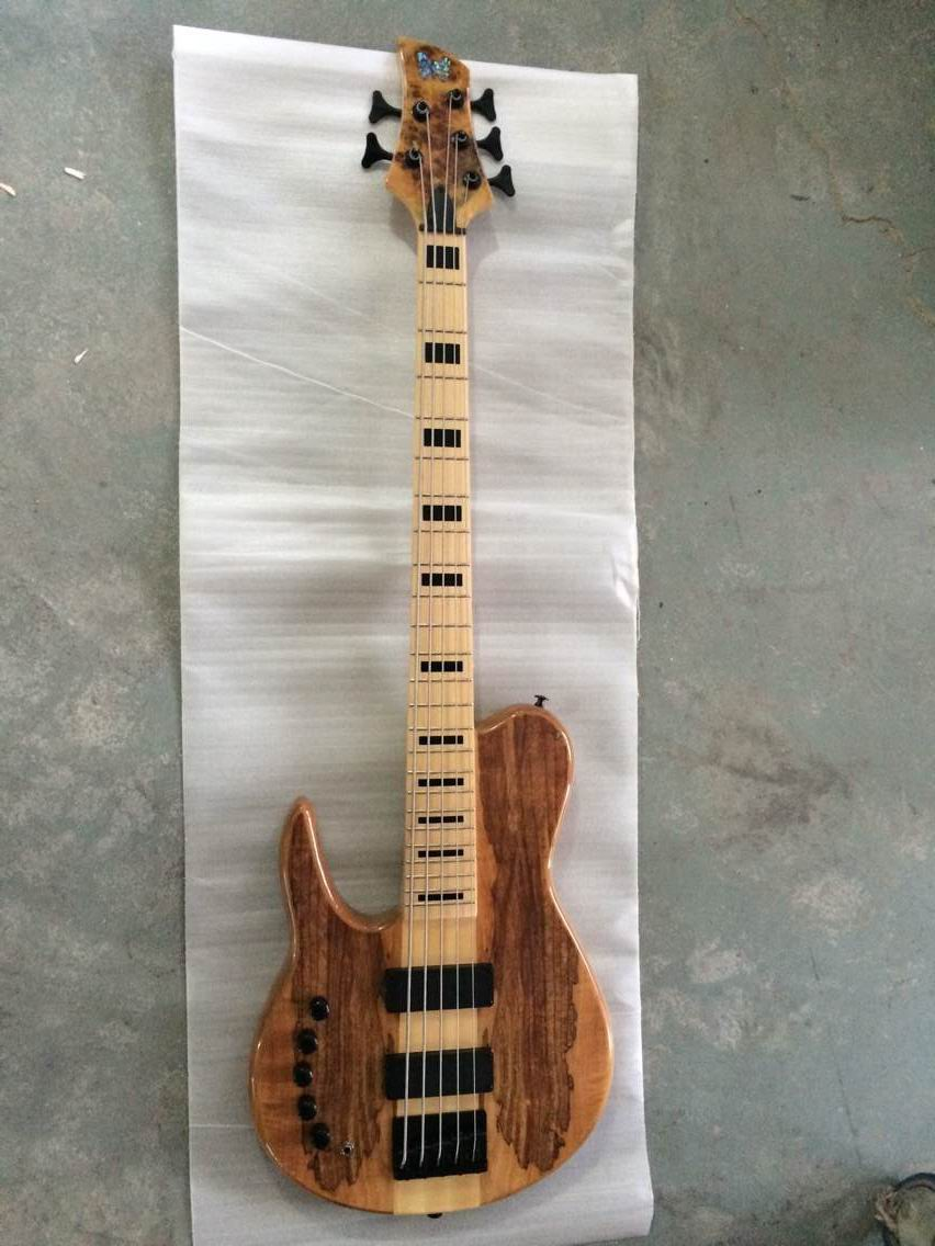 wholesale brand new left handed 5 string bass 5strings electric bass through neck in natural. Black Bedroom Furniture Sets. Home Design Ideas