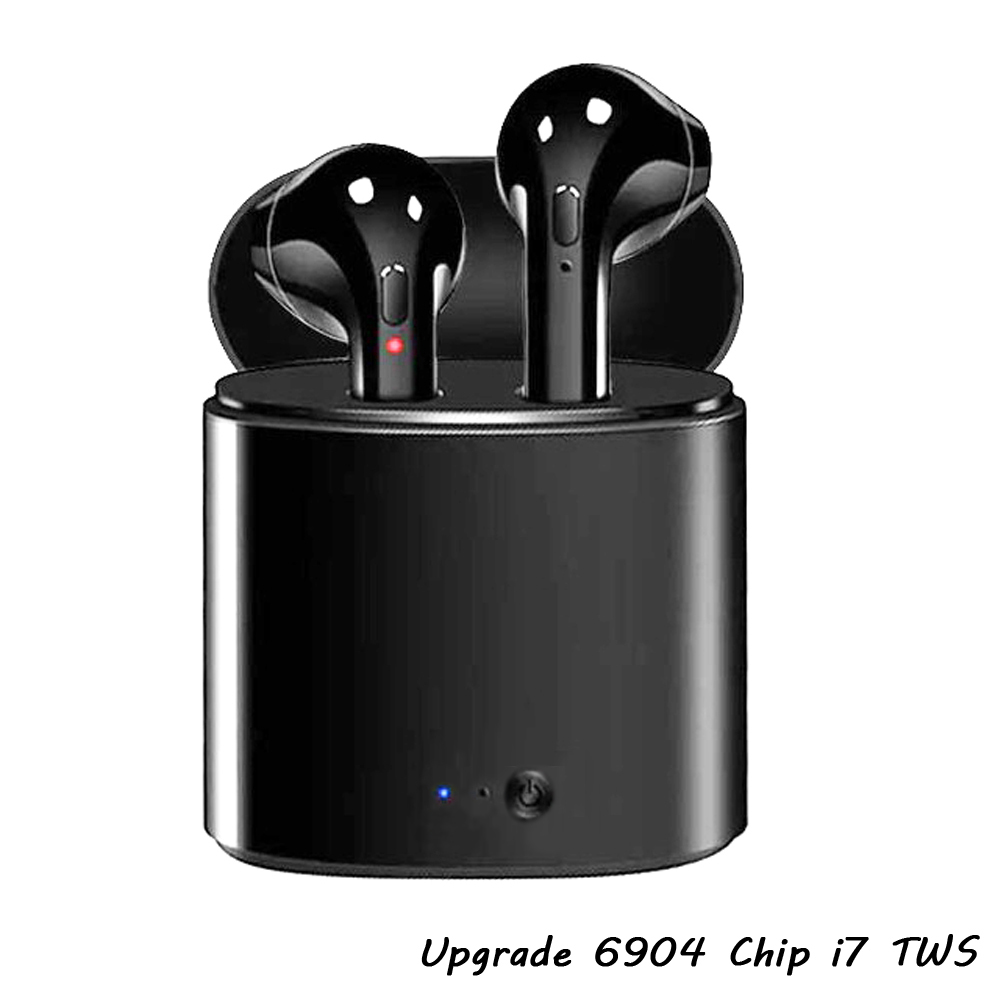 Upgrade Mini i7 TWS Headphone Wireless In Ear Stereo Headset Bluetooth Earpieces i7S Tws Earbuds Twins Earphone With Charger box fonken wireless bluetooth earphone tws i7 in ear wireless earbuds with mic portable sport mobile mini earpiece with charge box