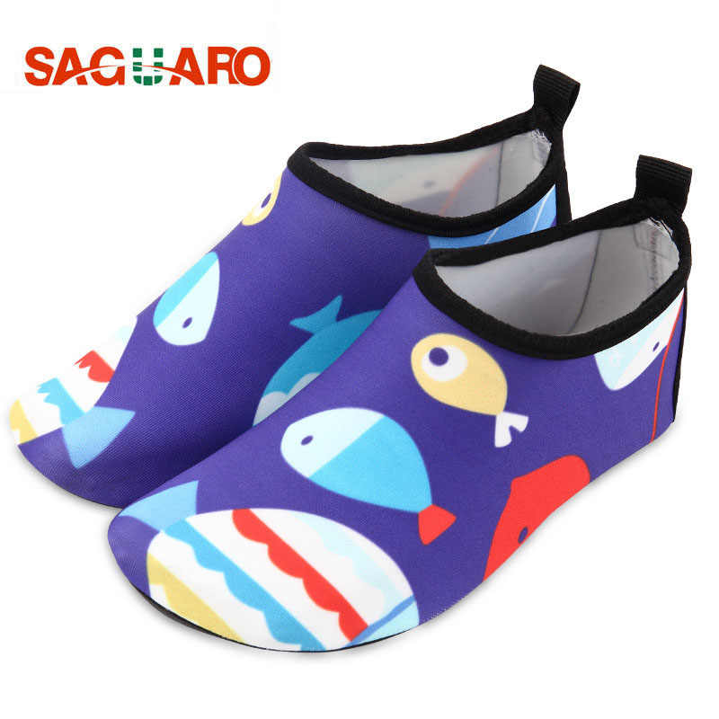 01282109076c8 SAGUARO Outdoor Swimming Shoes Children Girls Boys Water Shoes Breathable  Flat Soft Seaside Shoe Beach Surfing