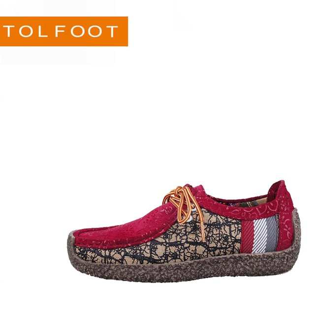 New arrival! Hot Sale! 2014 fashion lady casual leisure shoes nubuck genuine leather UV printing hand stitching shoes