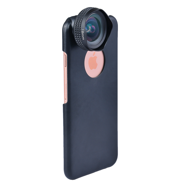 Apexel Optic Pro Portrait lens 18MM HD Wide Angle Camera Lens kit More Landscape for iPhone 7 6s plus & iphone 5 universal clip 2