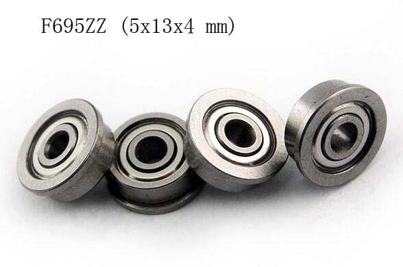 Metal Shielded FLANGED PRECISION Ball Bearing Set F695ZZ 10 PCS 5x13x4 mm