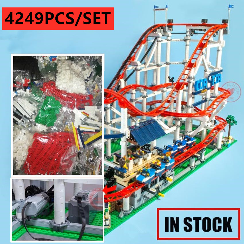 Motorized Motor New The roller coaster fit 10261 city creator figures building Blocks Bricks Kid Toys