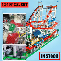 Motorized Motor New The roller coaster fit legoings 10261 city creator figures building Blocks Bricks Kid Toys birthday gift