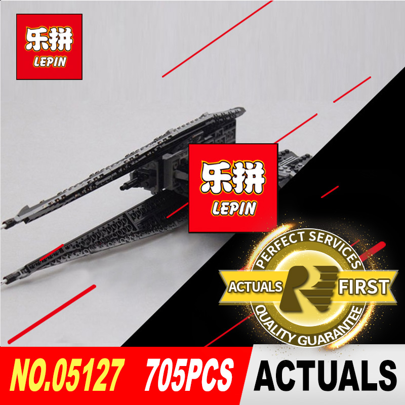 Lepin 05127 705Pcs Star Classic Series The Tie Model Fighter Set Building Blocks Bricks Educational toys Pretty Gifts 75179 lepin 16007 2141pcs monster fighter the haunted house model set building kits model compatible with 10228 educational toys gifts