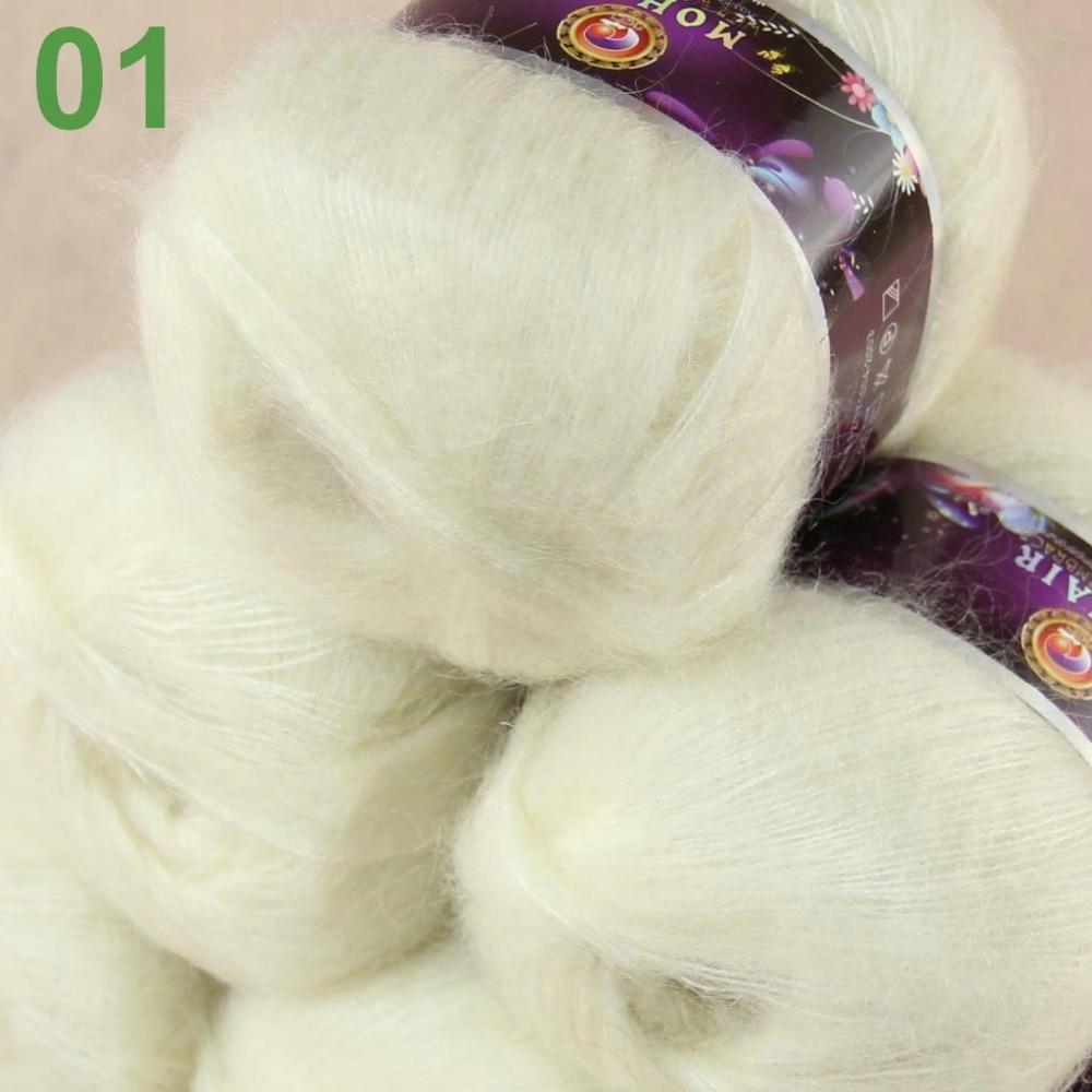 Färg valfri Parti med 3 bollar MOHAIR 50% Angora getter Cashmere 50% silkehand Garn Stickning brun