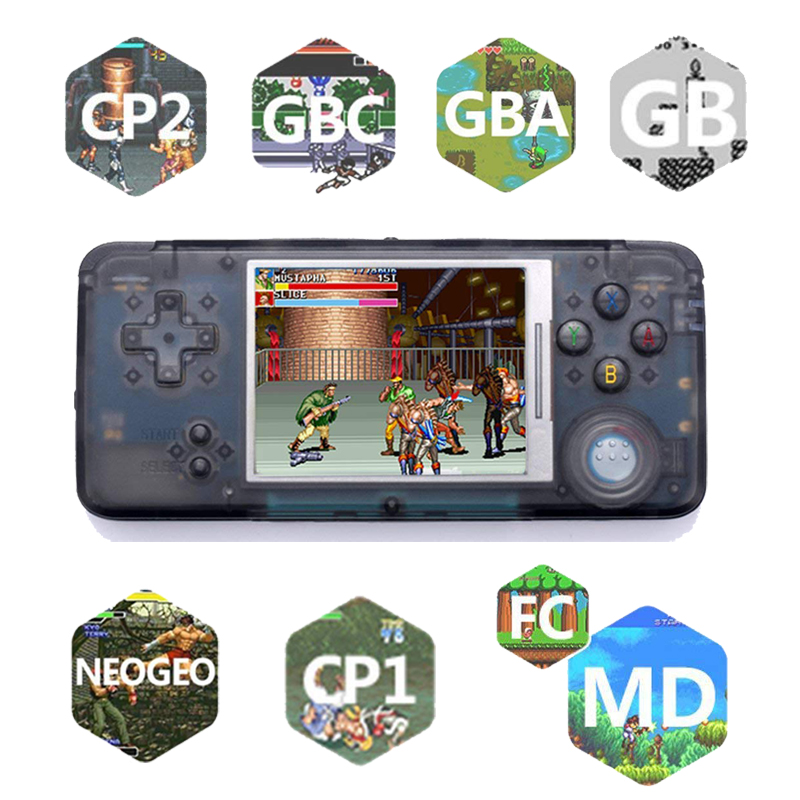 3.0 Inch Handheld Game Console Built-in 3000 Classic Games 16GB Retro Console Support For NEOGEO/GBC/FC/CP1/CP2/GB/GBA цена 2017